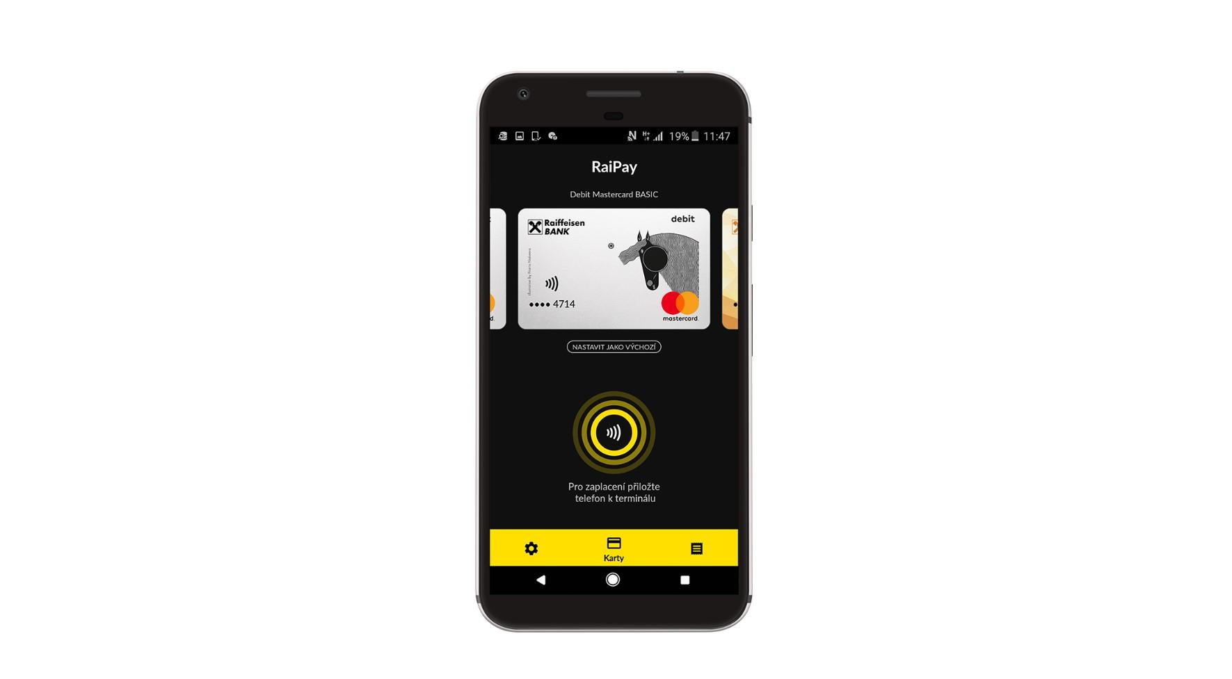 Raiffeisenbank nabízí platby mobilem skrze aplikaci RaiPay