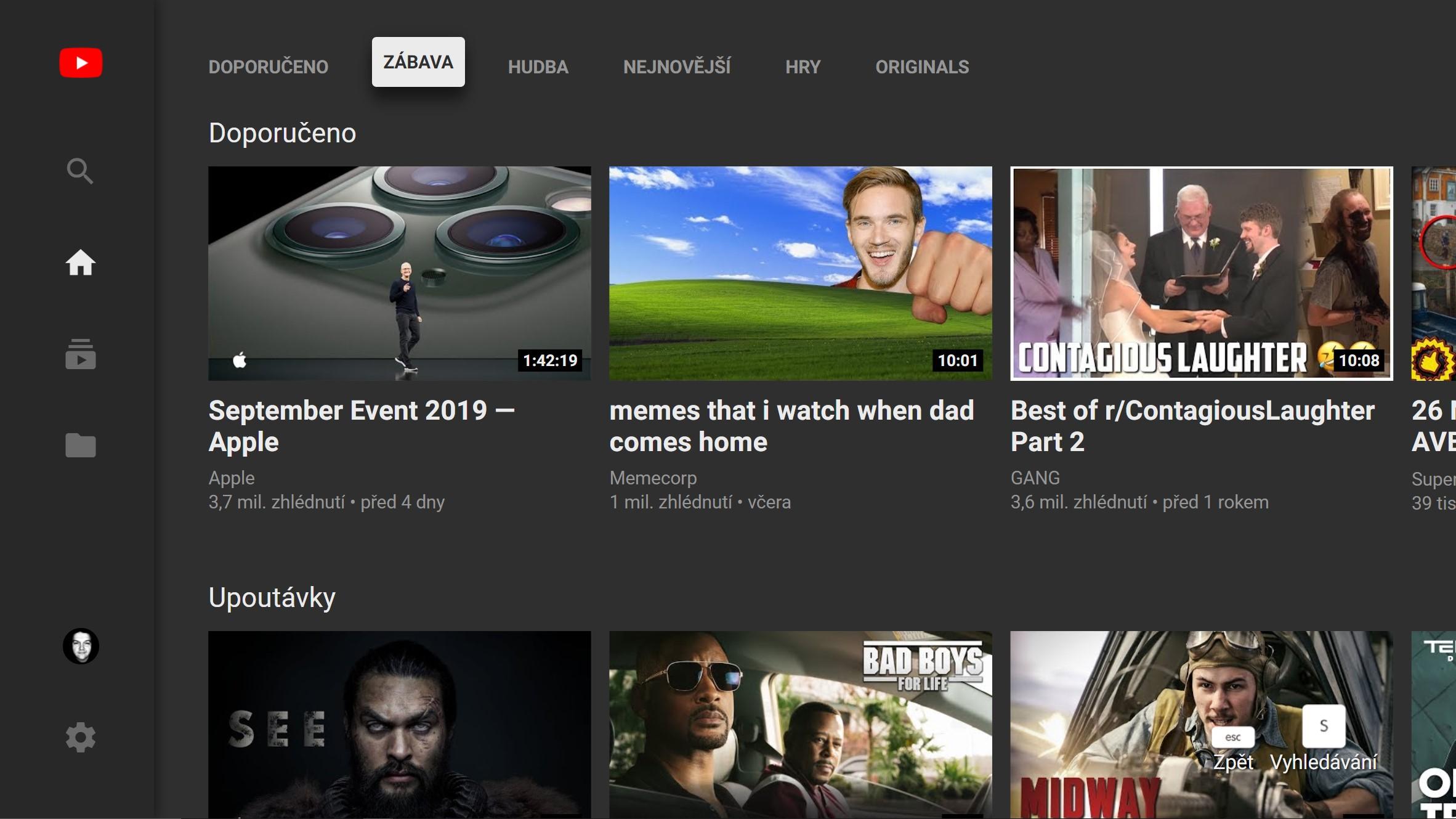 Youtube končí s televizní webovým rozhraním [aktualizováno]