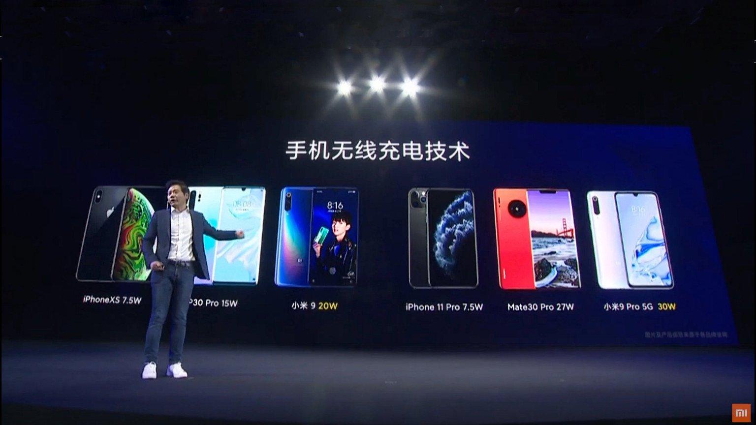 Hořké představení Xiaomi 9 Pro, záznam z představení odebrán z Youtube