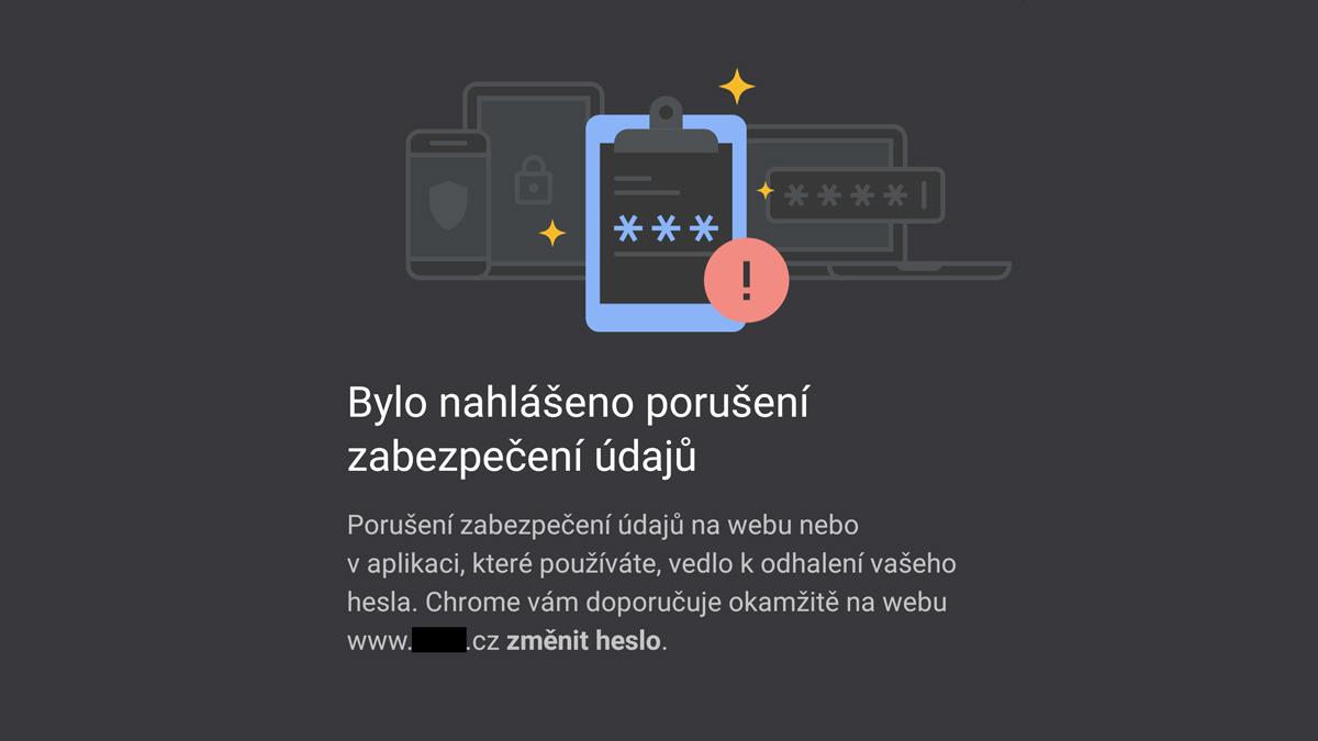 Chrome pro Android vás upozorní, pokud máte účet v ohrožení