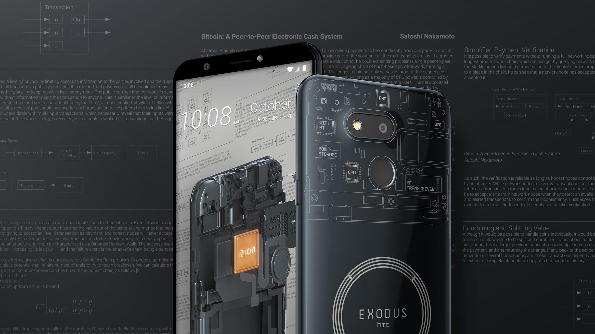 HTC Exodus 1s představen, další blockchain smartphone