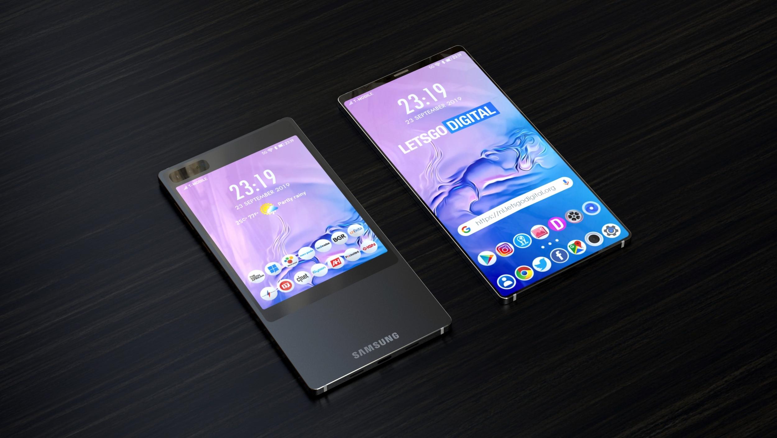 Samsung si pohrává s umístěním druhého displeje na smartphonech
