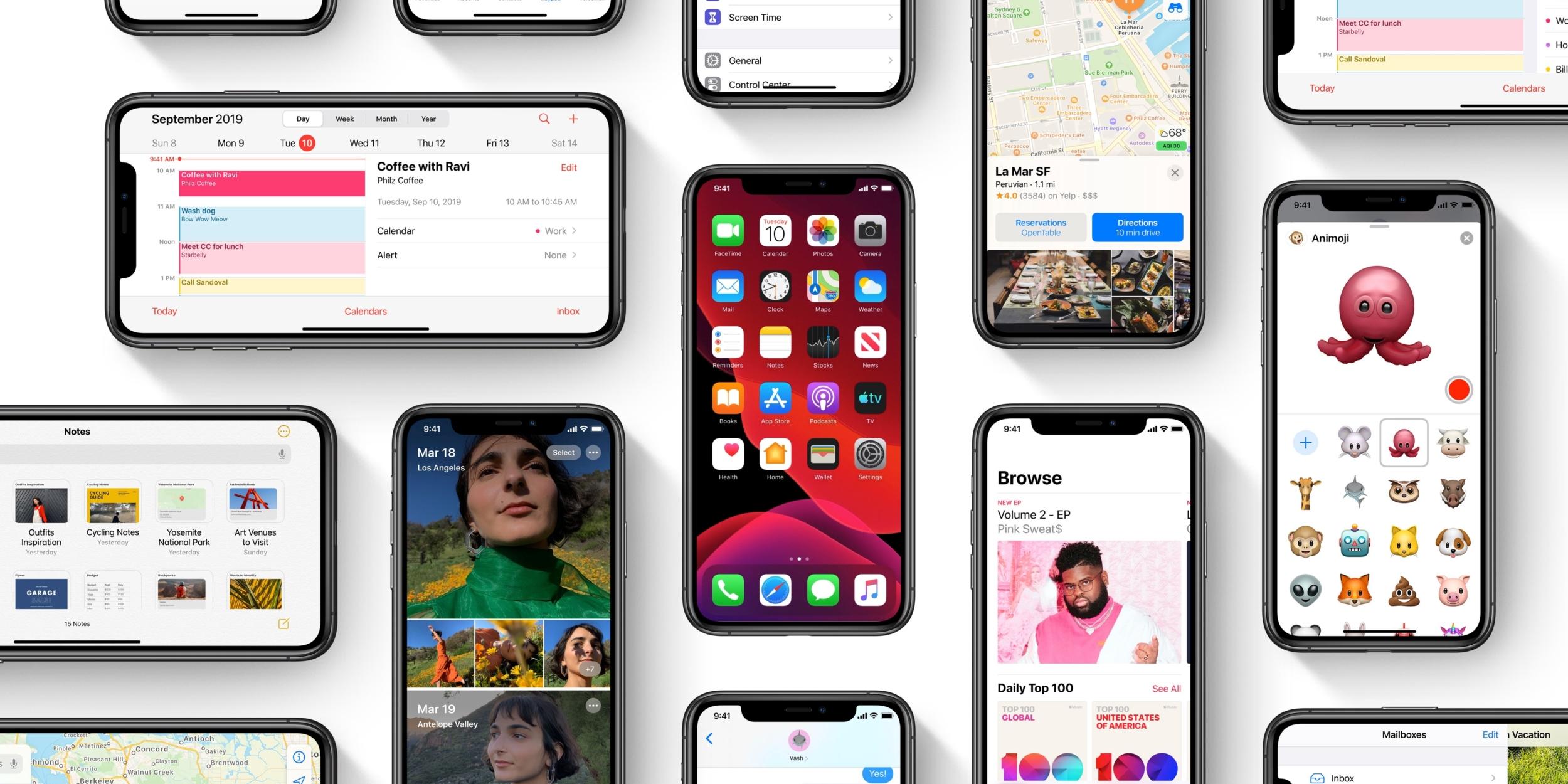 iOS 13 už používá 55 % zařízení, iPadOS 13 33 % zařízení