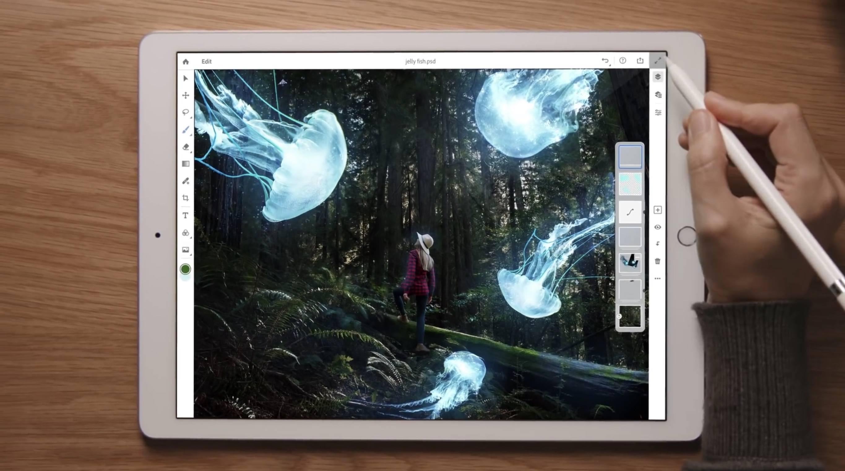 Photoshop pro iPad přináší několik velkých funkcí