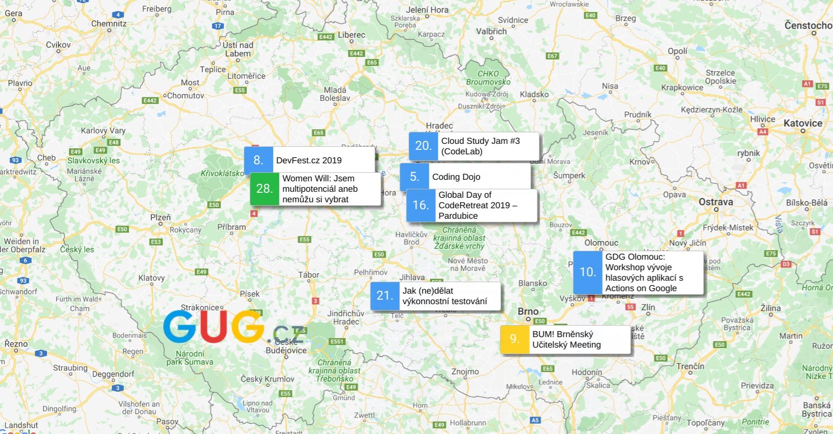 GUG.cz zve na technologicky zaměřené akce [listopad]