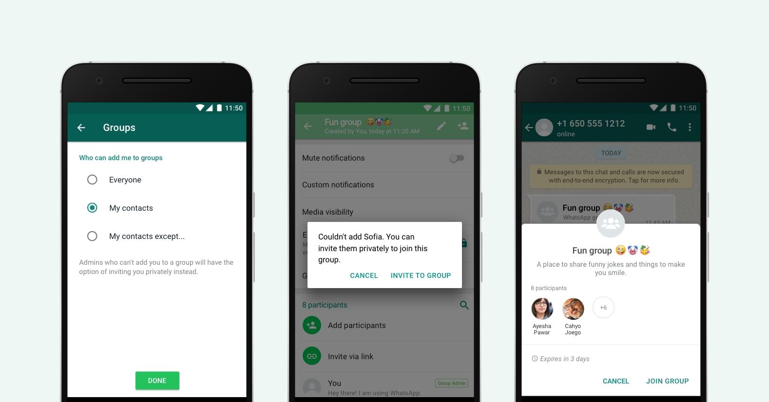WhatsApp mění nastavení pozvánek do skupin
