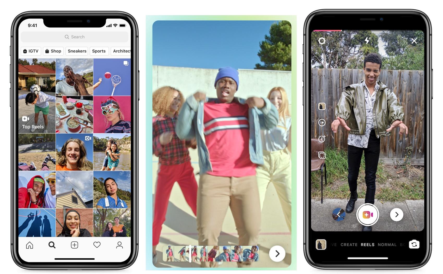 Instagram představil klon konkurenční služby TikTok