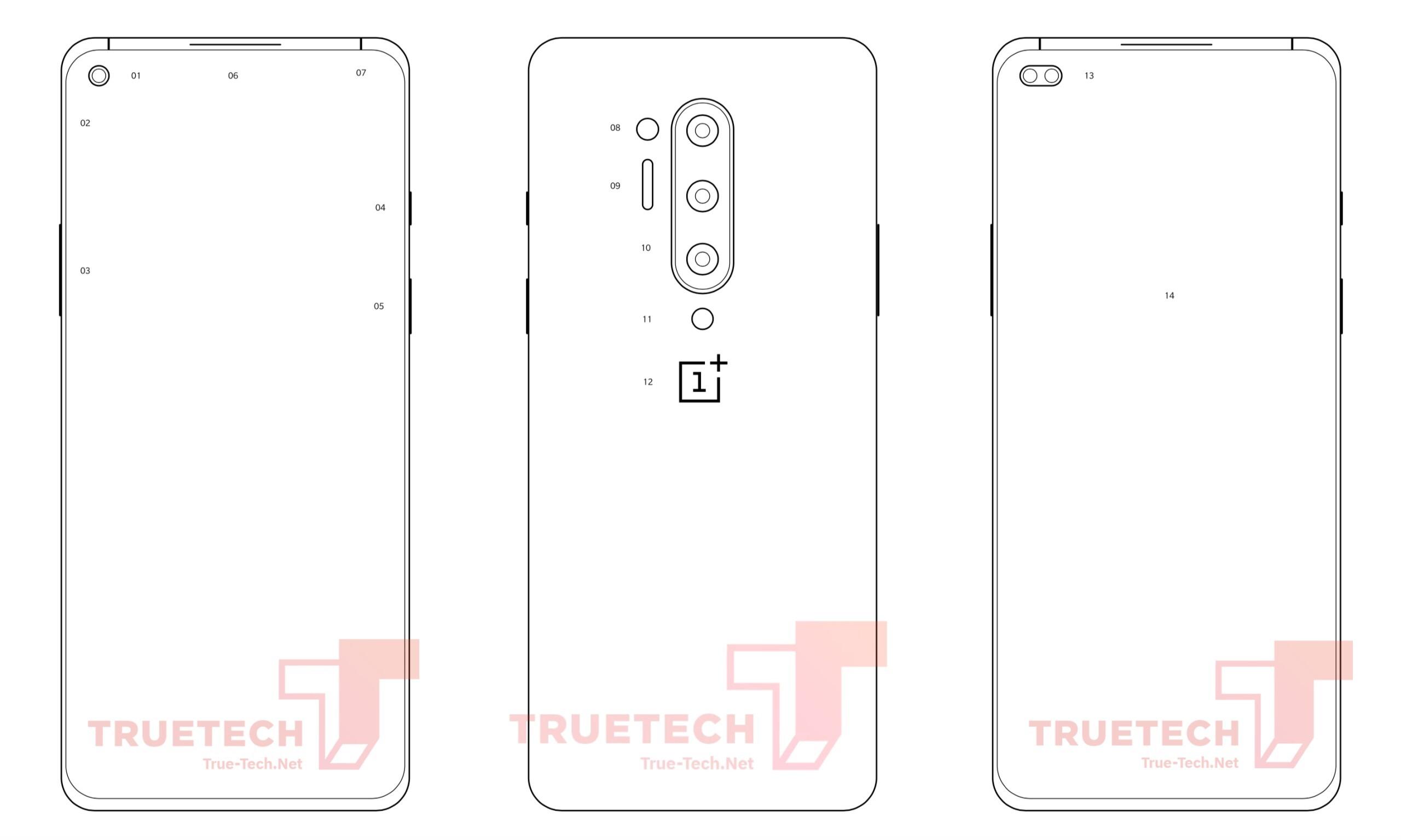 OnePlus 8 by mohl nabídnout čtyři fotoaparáty a design Galaxy S10