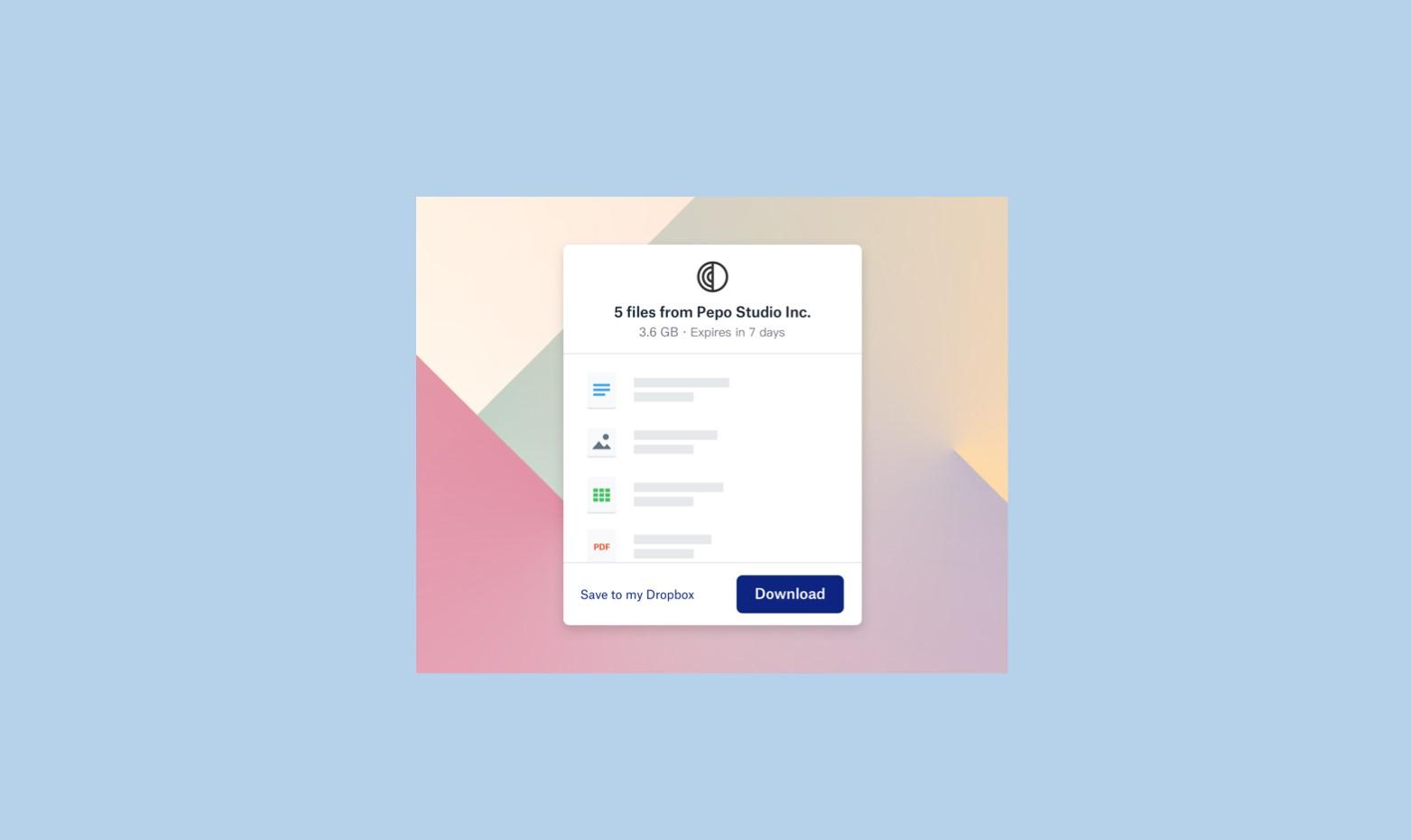 Služba Dropbox Transfer je dostupná pro všechny