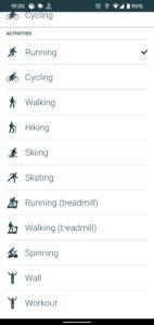 Sportovní aktivity Jabra aplikace