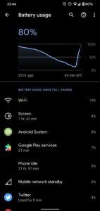 Pixel 4 baterie