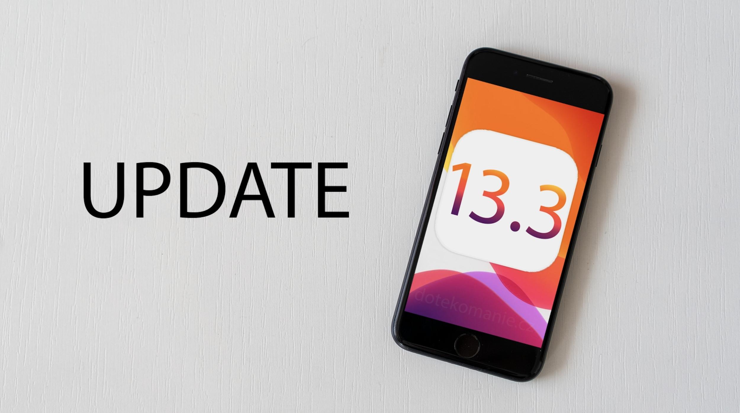 Apple vydal čtvrtou betu iOS 13.3 a iPadOS 13.3
