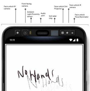 Popis senzorů Pixel 4