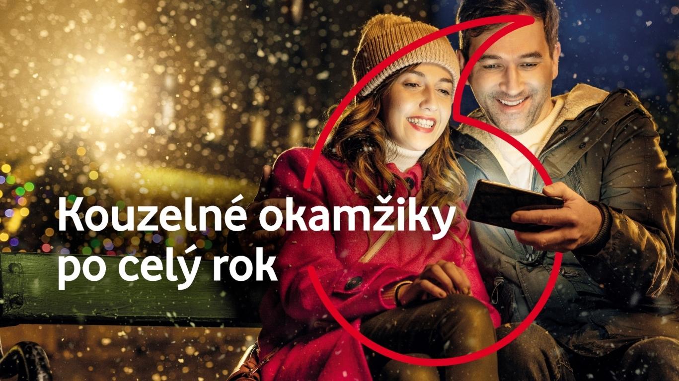 Vánoční nabídka Vodafonu nabízí 100 dvouhodinovek mobilních dat
