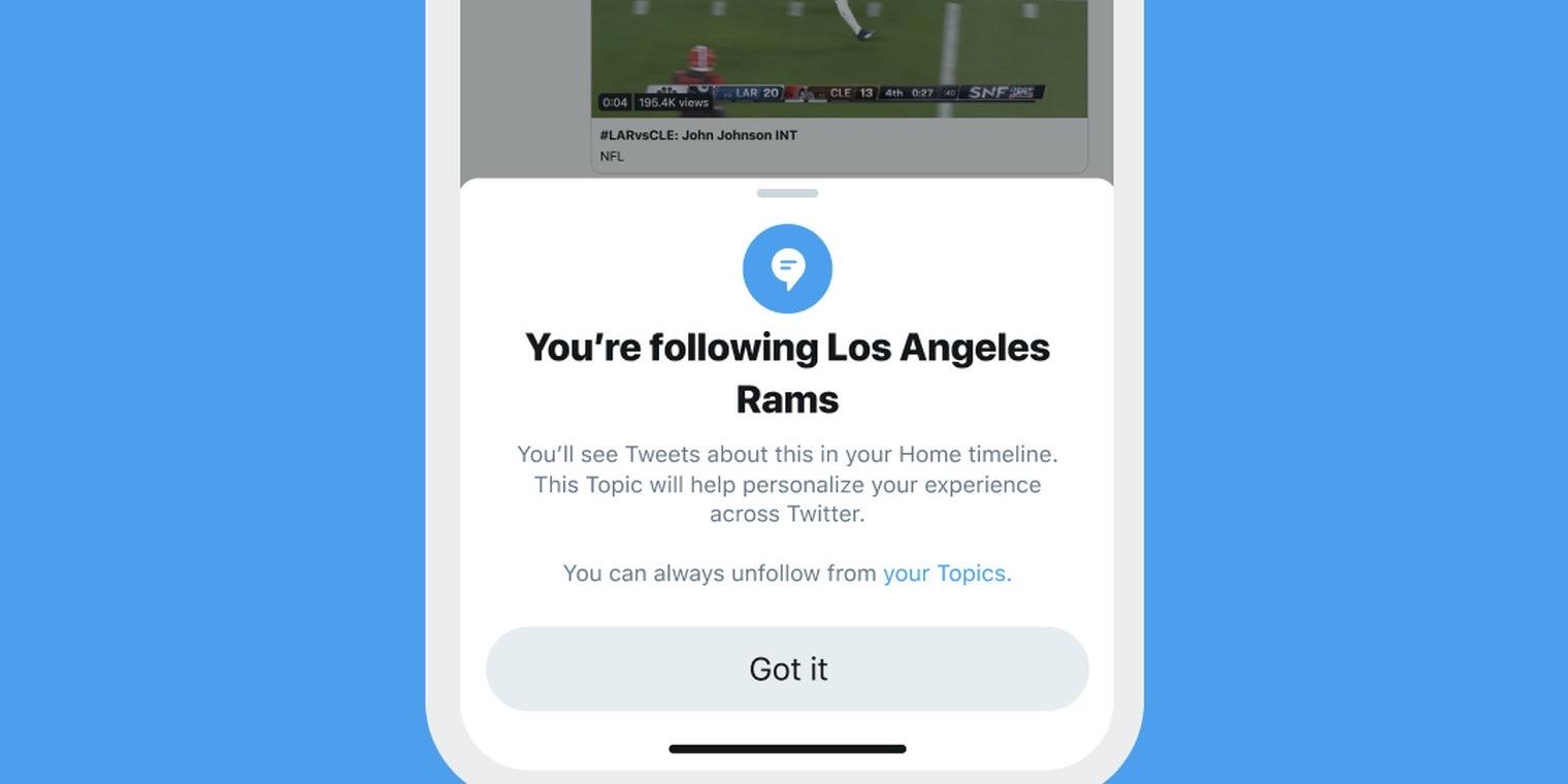 Twitter brzy spustí funkci Topics, která vás udrží v obraze