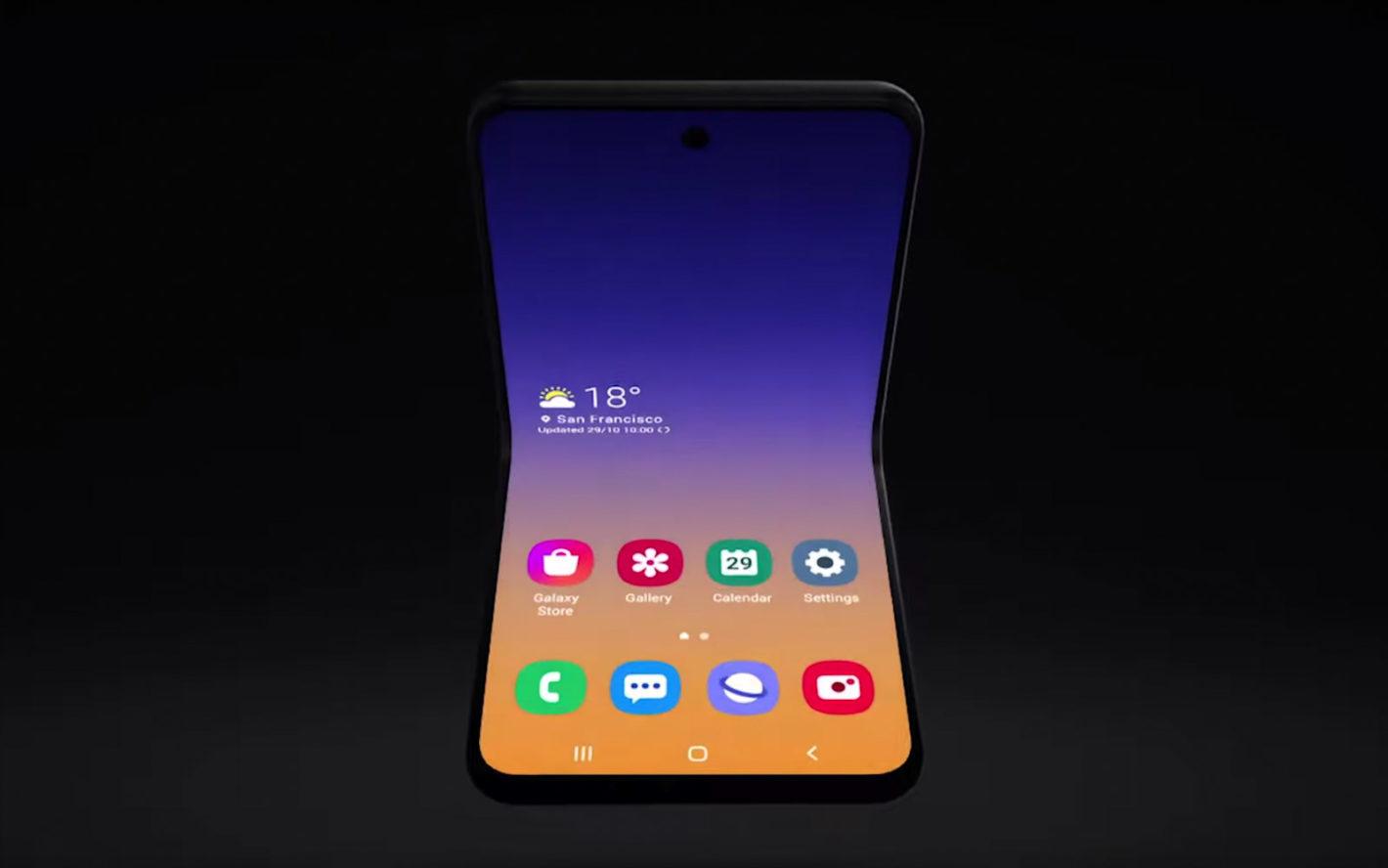 Samsung si pohrává s rolovatelným displejem