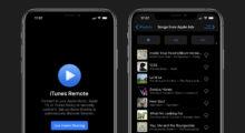 iTunes Remote nově s tmavým režimem