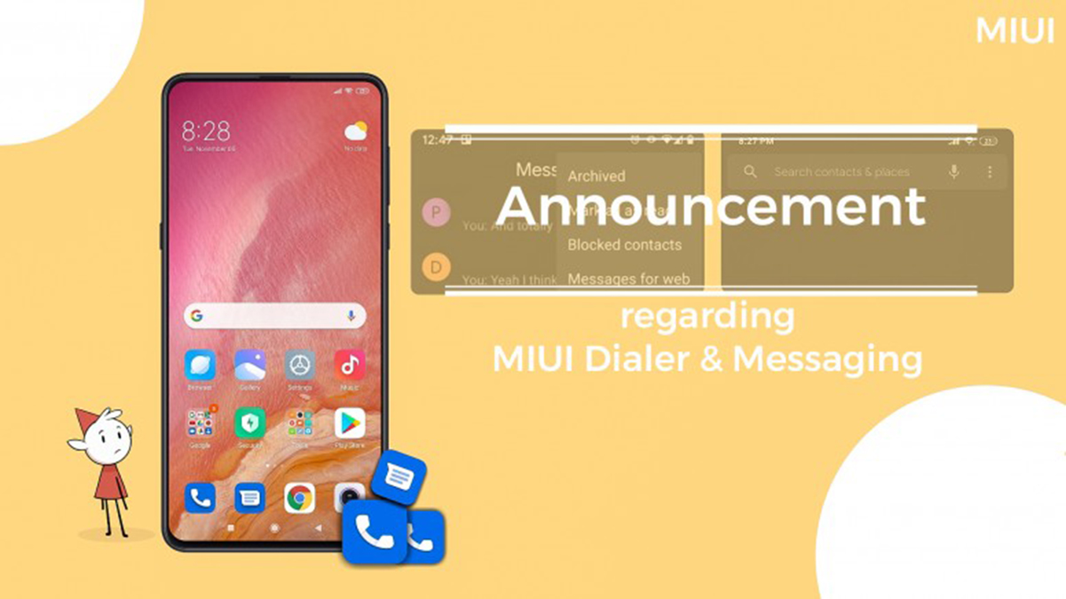 MIUI přichází o nativní aplikace pro volání a SMS, nahradí je ty od Googlu