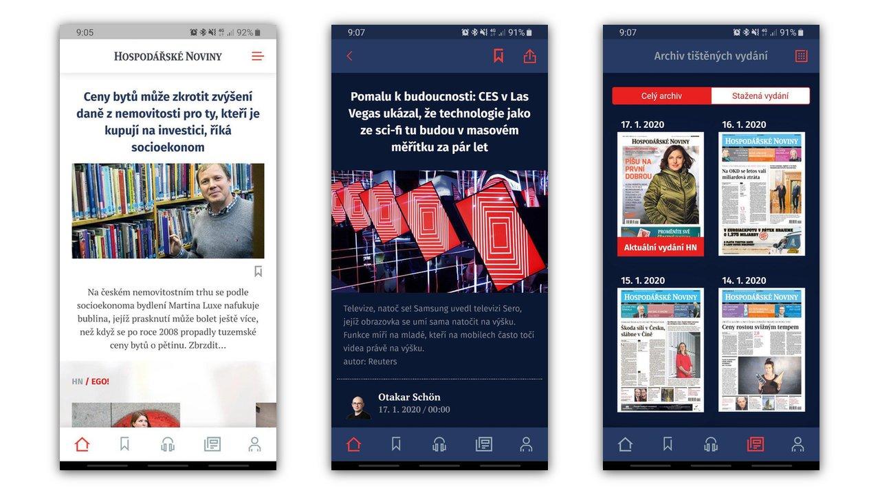 Hospodářské noviny mají nové aplikace pro Android a iOS