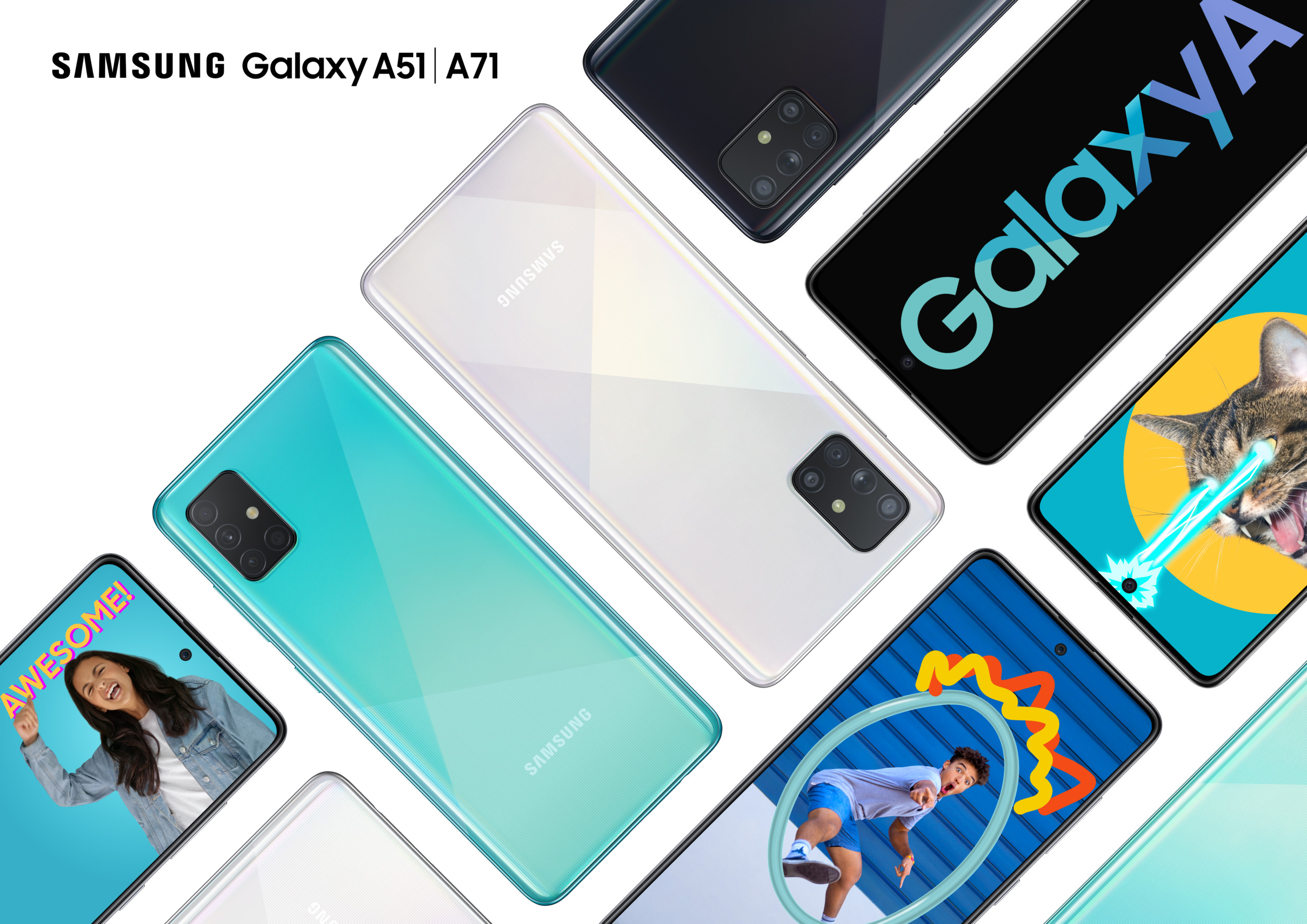 Samsung Galaxy A51 a A71 přichází do Česka, cena startuje na 9 499 Kč