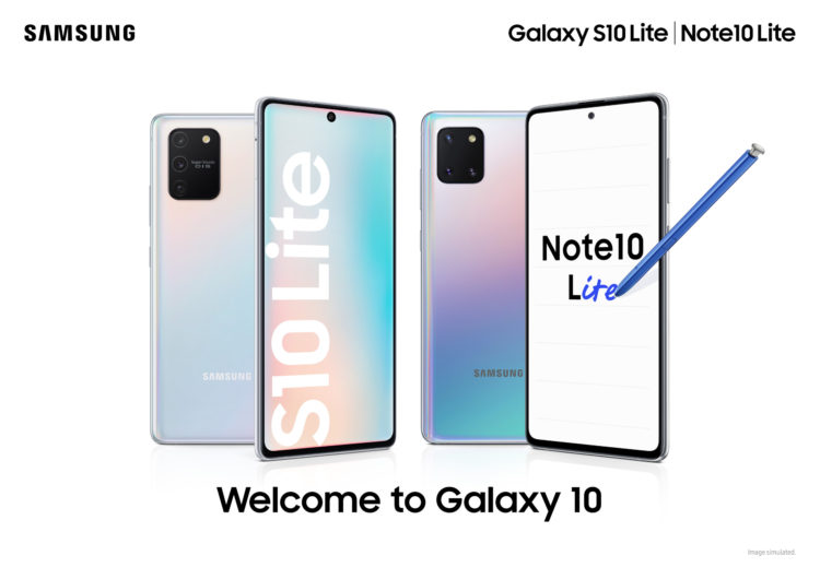 Galaxy Note10 Lite a Galaxy S10 Lite