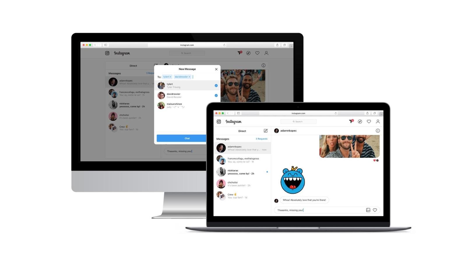 Instagram chat přichází do webového rozhraní