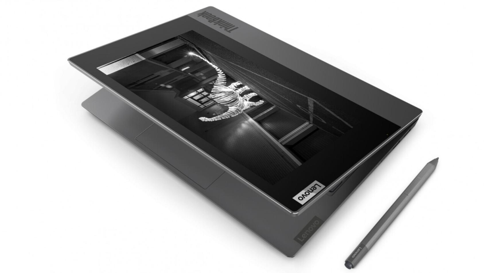 Lenovo představilo notebook ThinkBook Plus s e-ink displejem [CES]