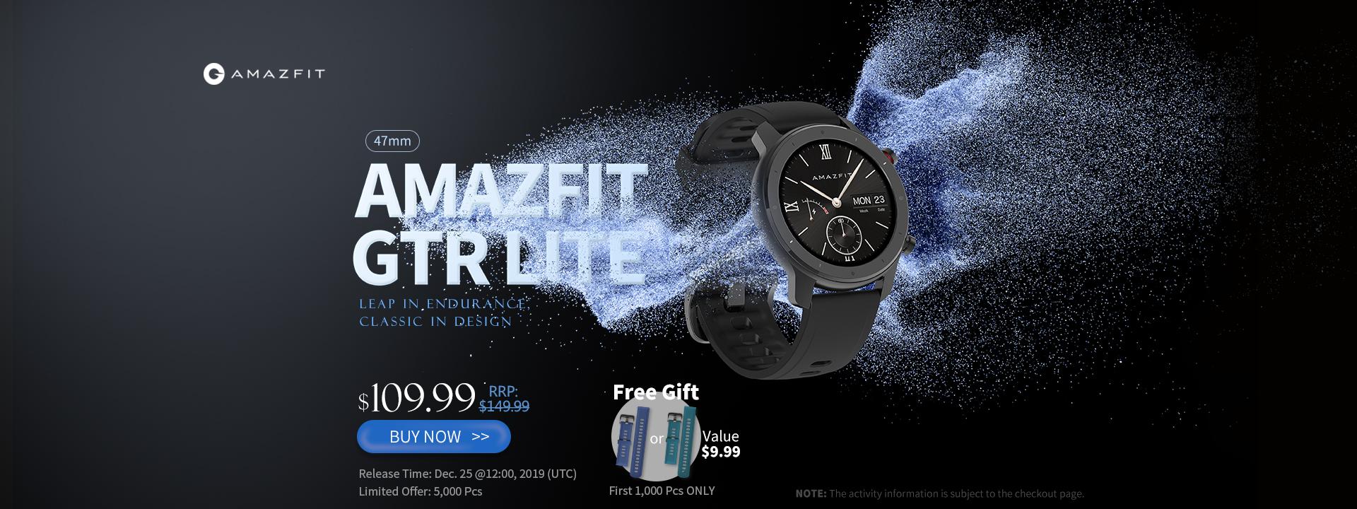 Amazfit ukázal chytré hodinky GTR Lite