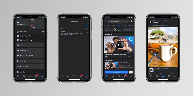 Facebook nabízí tmavý vzhled pro první uživatele [aktualizováno]