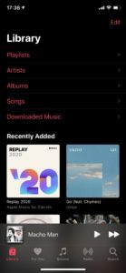 Apple Music Replay 2020