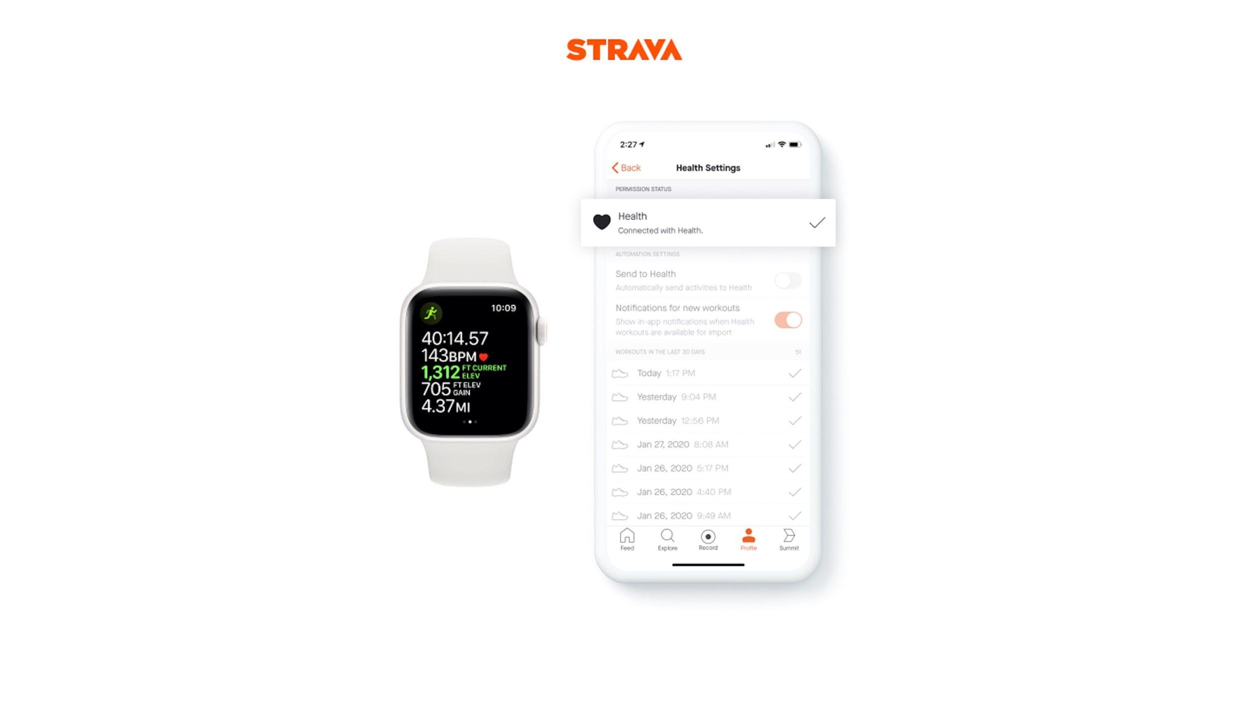 Strava podporuje HealthKit pro importování Apple Watch dat