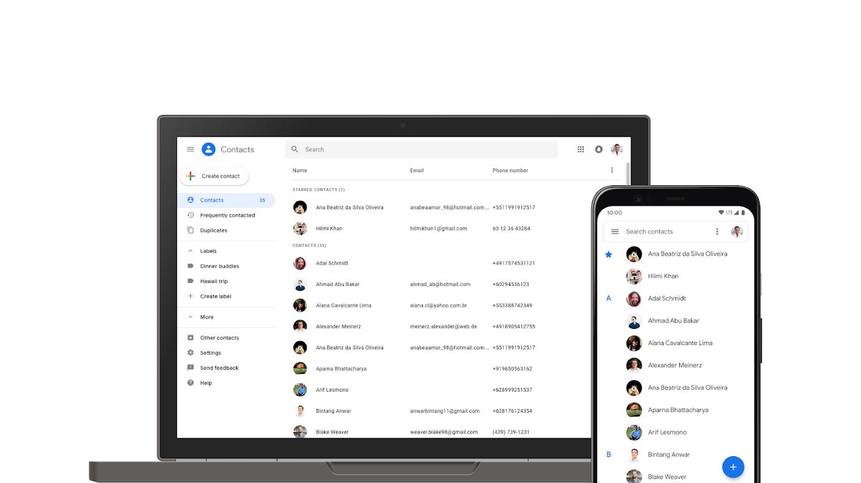 """Google Kontakty umí najít """"neuložené"""" kontakty"""