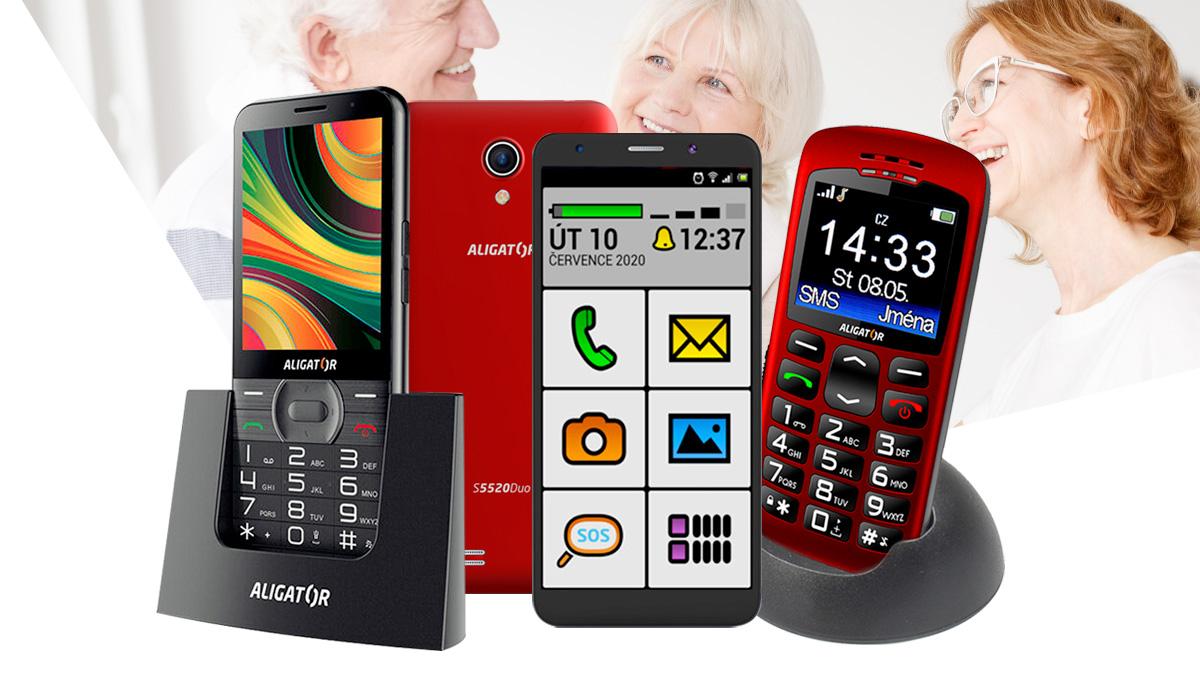 Mobilní telefony Aligator: Perfektní pro seniory i mobilní začátečníky [sponzorovaný článek]