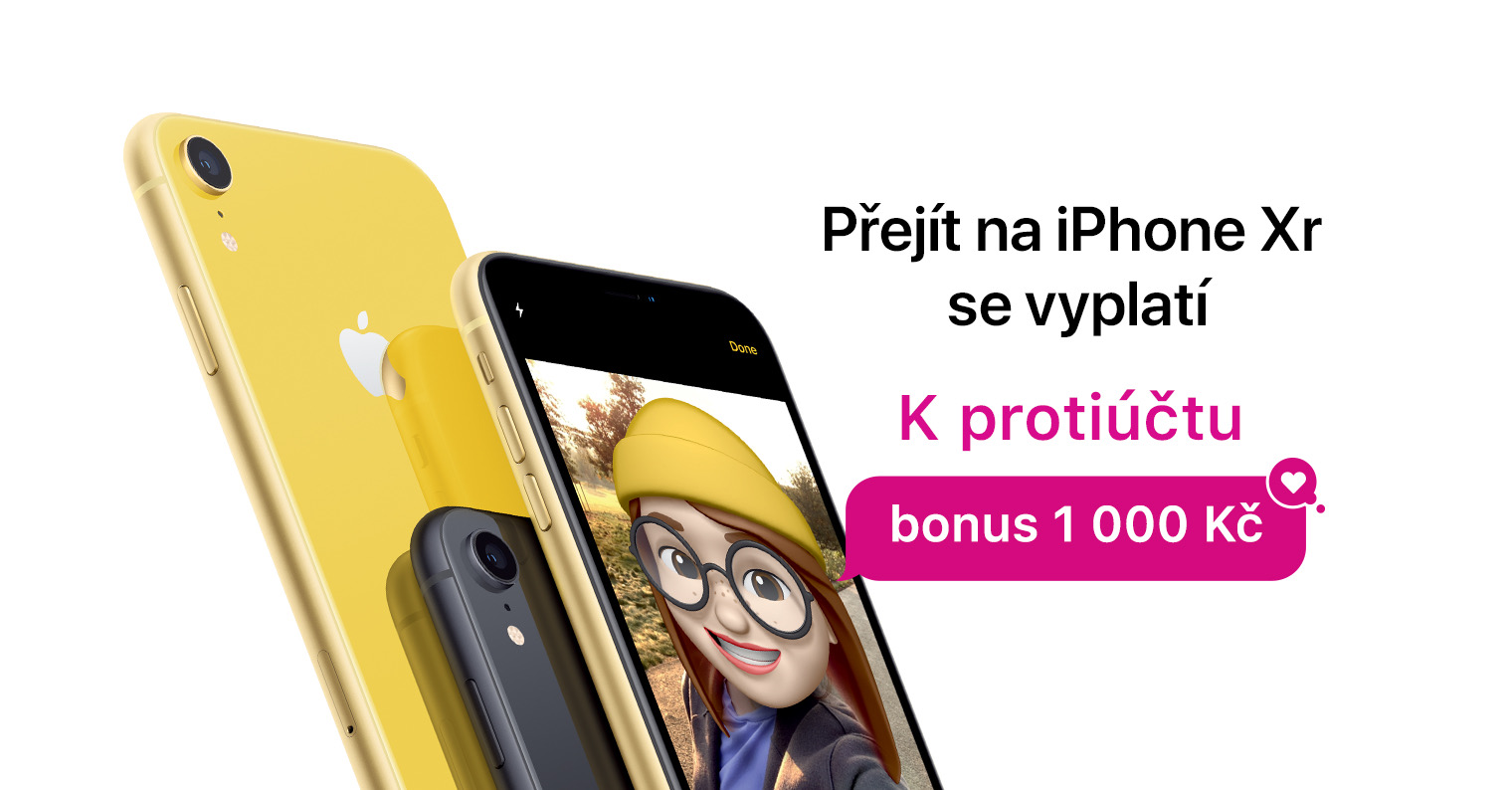 Přejděte v březnu na nový iPhone XR nebo iPad Pro a získejte bonus až 2 000 Kč [sponzorovaný článek]