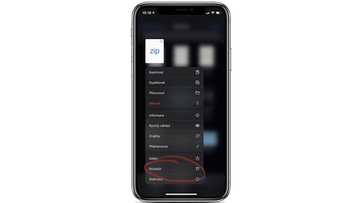 Files: jak snadno rozbalit ZIP soubor na iPhonu a iPadu [návod]