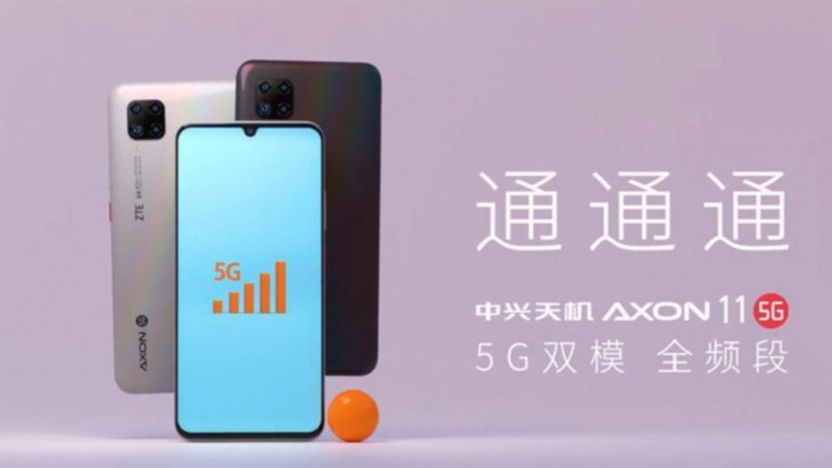 ZTE Axon 11 5G na uniklém marketingovém obrázku