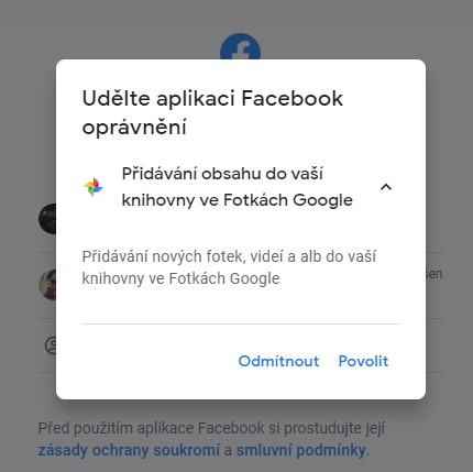 facebook přesunutí povolení google 430x429x