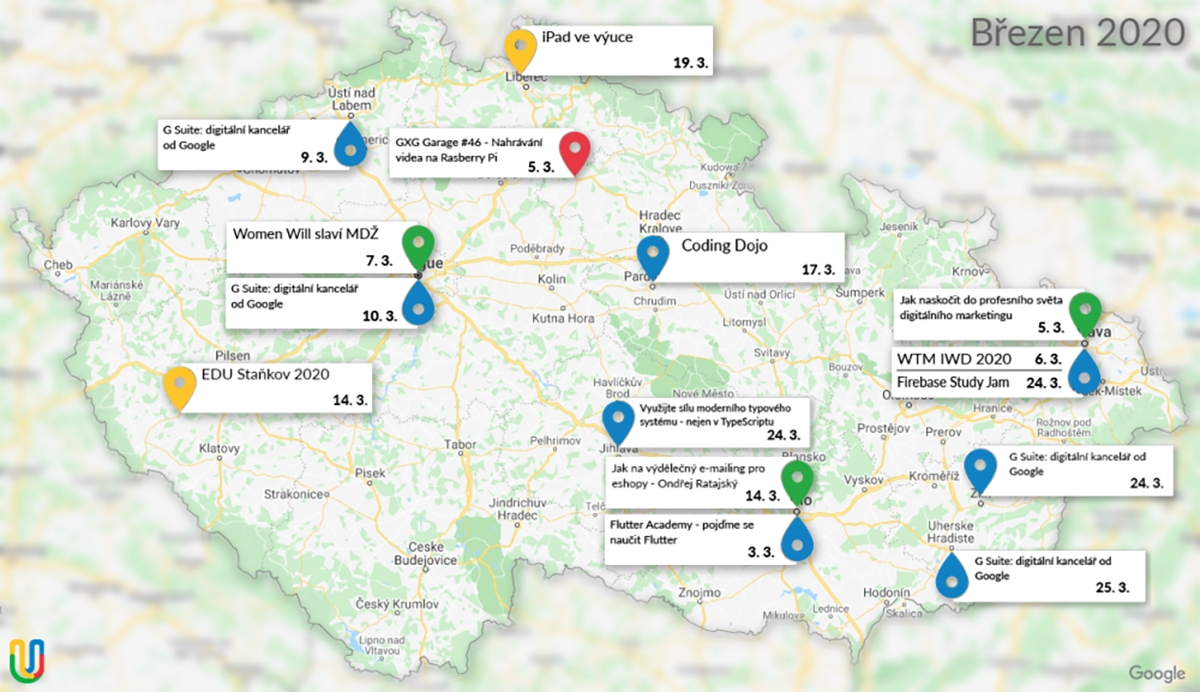 GUG.cz zve na technologicky zaměřené akce [březen]