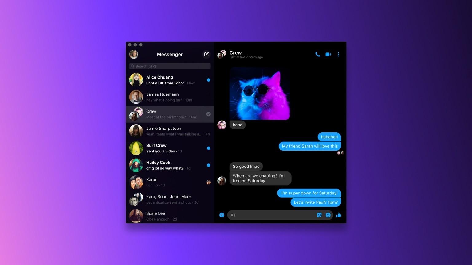 Messenger je nově dostupný pro macOS a Windows 10