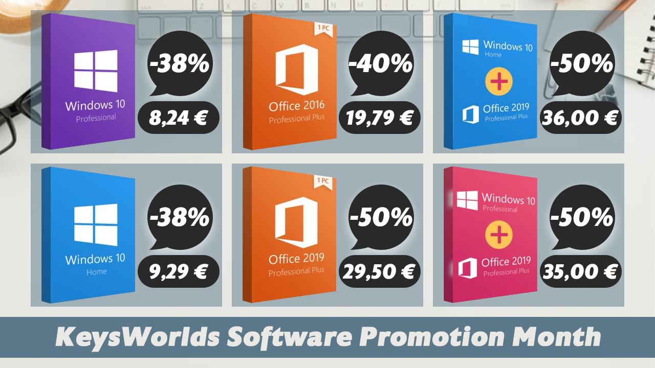 Kancelářský balík Office nyní za poloviční ceny: Office 2019 Pro za 29,50 euro nebo Windows 10 Pro za 8,24 euro! [sponzorovaný článek]