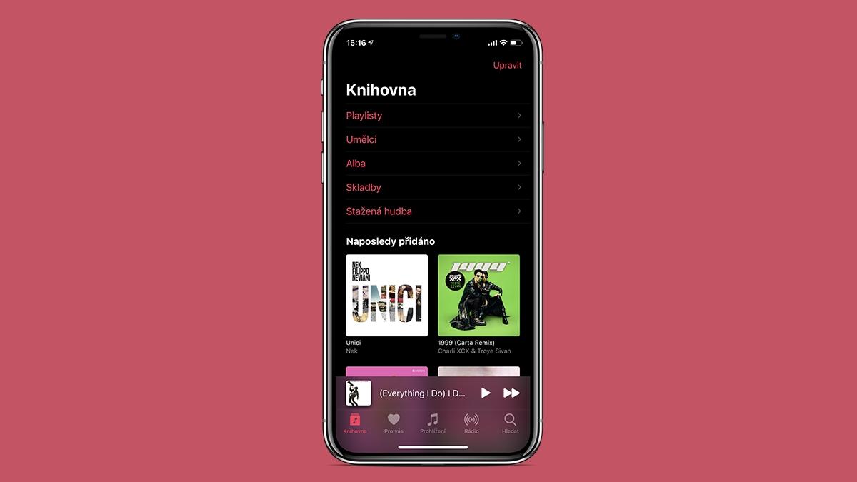 Apple Music: jak najít naposledy přidané skladby za pár vteřin