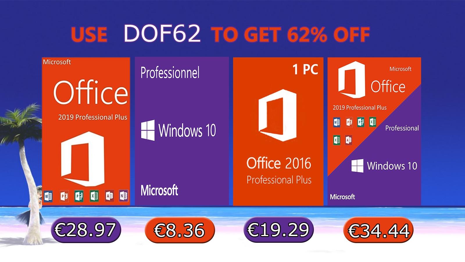 Jarní akce: Windows 10 za 8,36 EUR nebo Office 2019 za 41,01 EUR! [sponzorovaný článek]