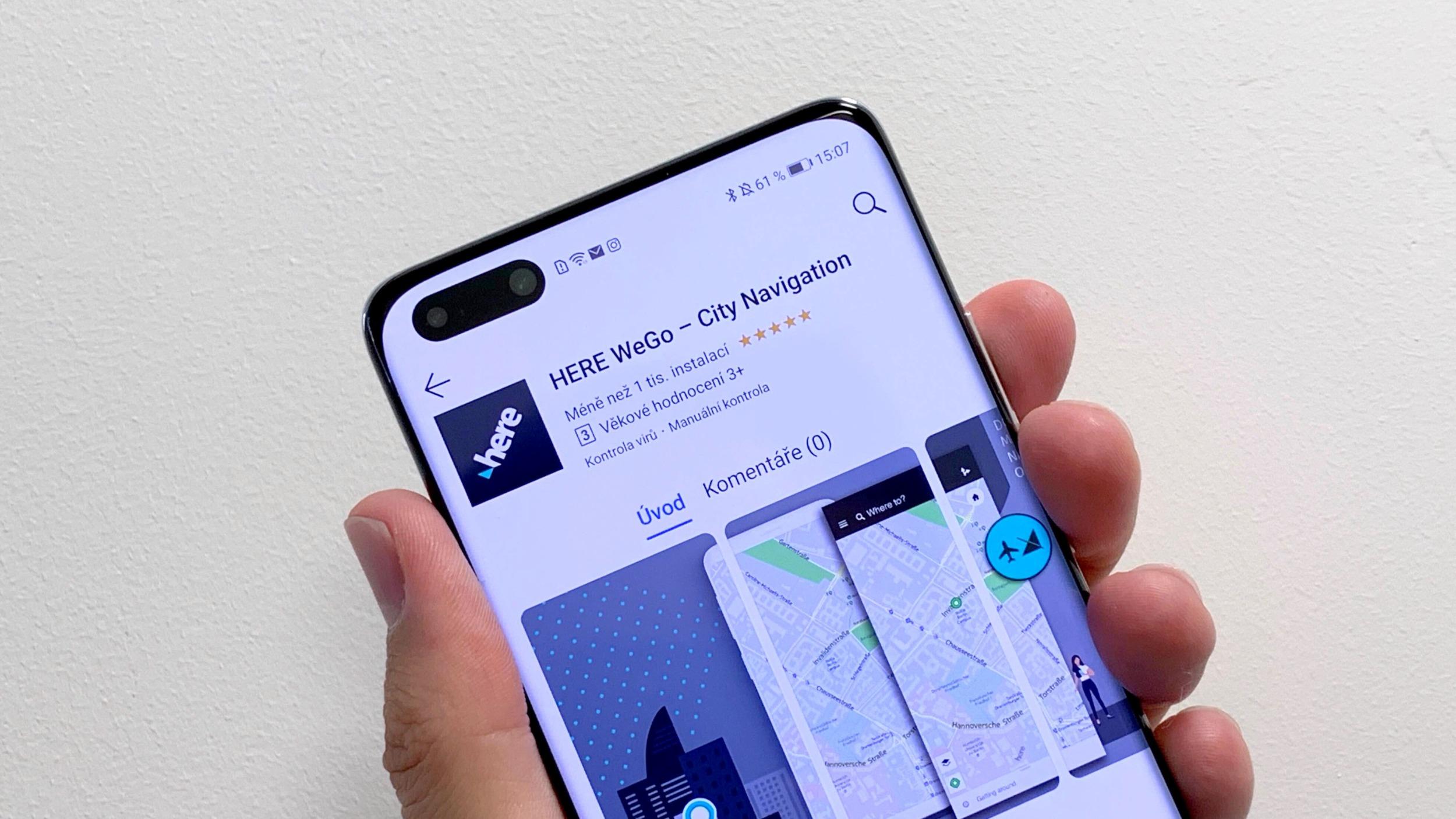 Huawei mobily získávají alternativu ke Google Mapám