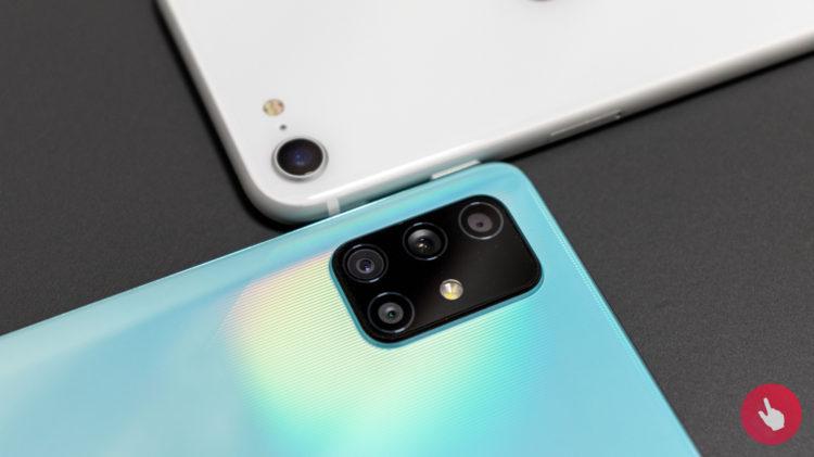 Galaxy A71 iPhone SE 2 6000x3368x
