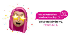 iWant Pardubice slaví narozeniny. Slevy dostáváte vy! [sponzorovaný článek]