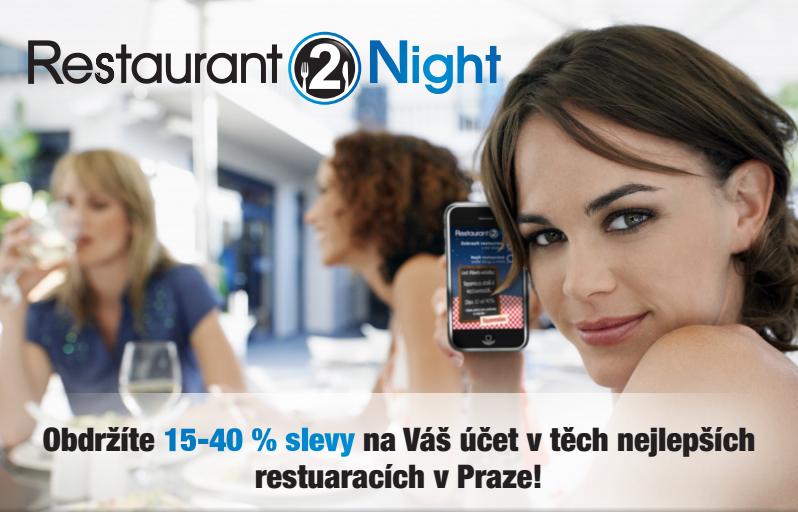 Plaťte méně v restauracích – 'Restaurant 2 Night' vám ušetří peníze a pomůže i s rezervací