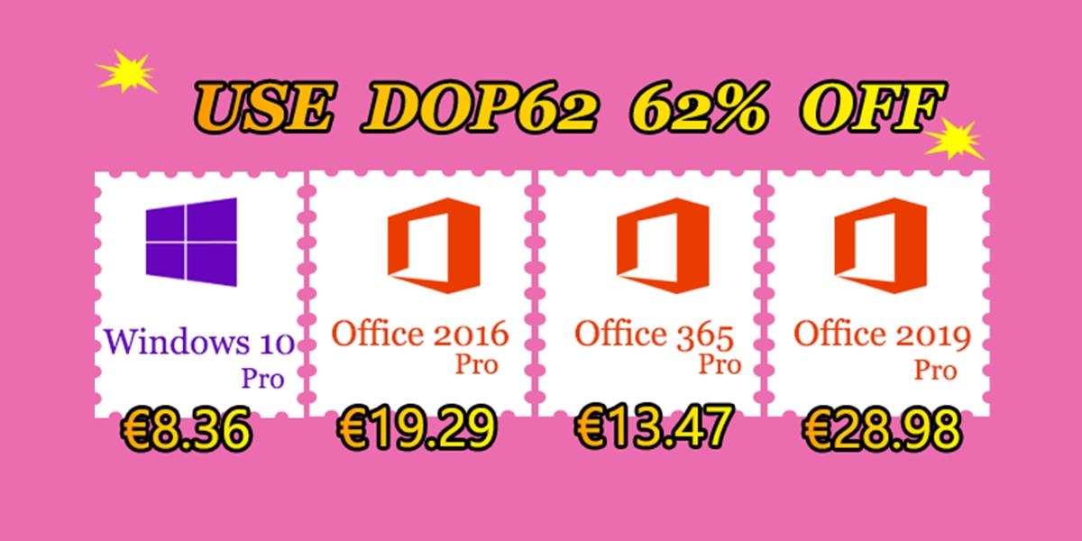 Letní slevy: Windows 10 Pro za 8,36 EUR, Office 2019 Pro za 28,97 EUR! [sponzorovaný článek]