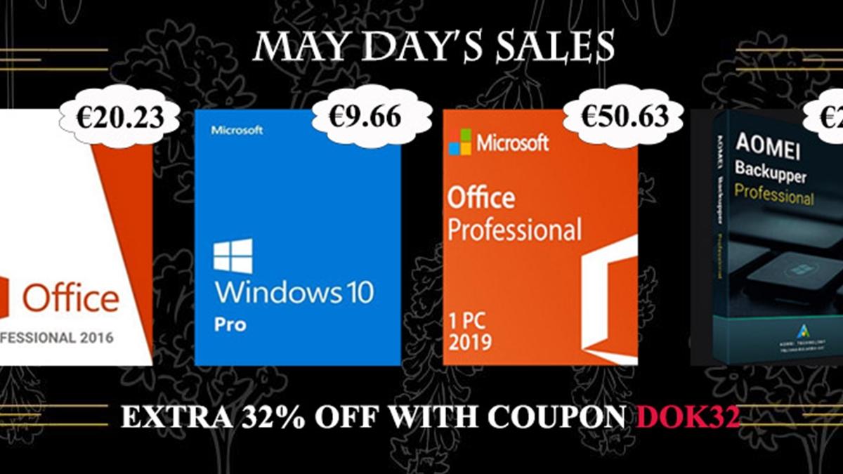 Windows 10 Pro za 9,66 EUR, Office 2016 Pro za 20,23 EUR! [sponzorovaný článek]