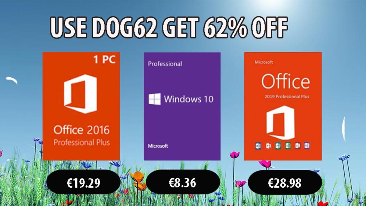Levné nabídky: Windows 10 Pro za 8,36 EUR, Office 2019 Pro za 28,97 EUR [sponzorovaný článek]