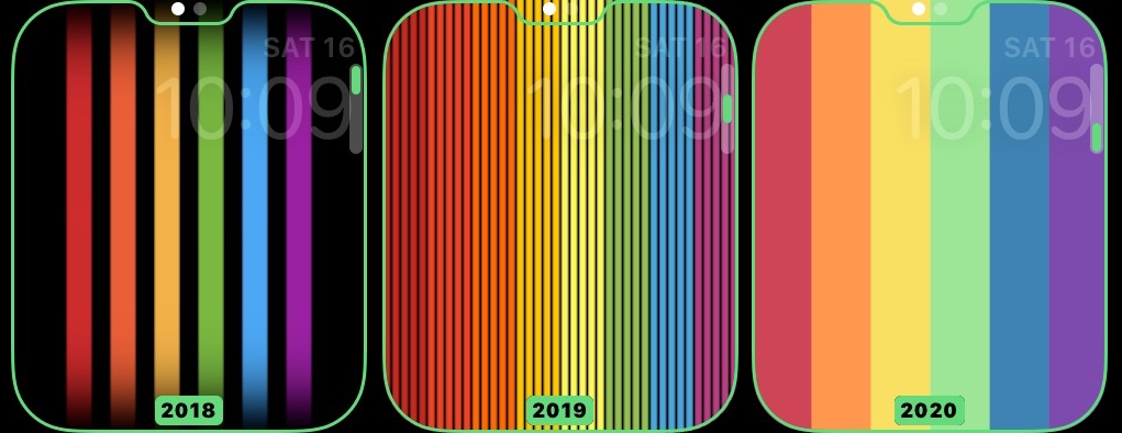apple watch pride faces compared 1021x394x